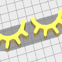 Imprimir en 3D gratis ojo cerrado para la decoración de paredes, DL3D-MAKER