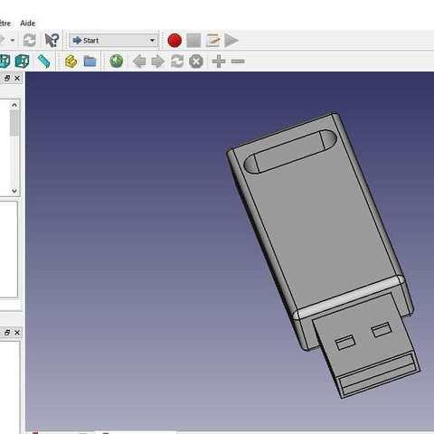 Free STL Full detail USB key, DL3D-MAKER