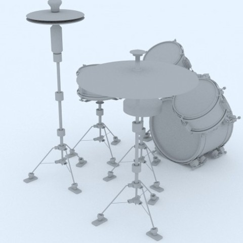 Free 3D print files 3d drums, 3d rock drums, 3d intrument, 3d music, 3d printable intrument, santiagomorantediaz