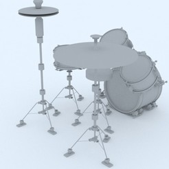 modelo stl gratis 3d drums, 3d rock drums, 3d intrument, 3d music, 3d intrument printable, santiagomorantediaz