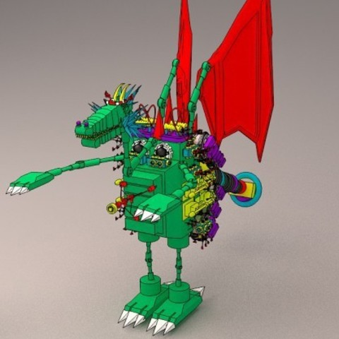 3D Printer Files Dragon Robot 3d Dragon Robot 3d Dragon 3d Cyborg