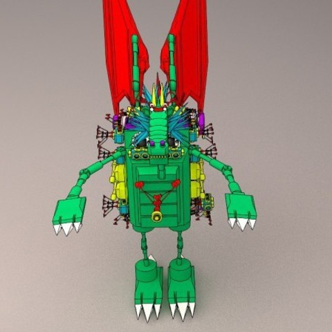 3D printer files dragon robot, 3d dragon robot, 3d dragon, 3d cyborg, 3d dragon cyborg,, santiagomorantediaz