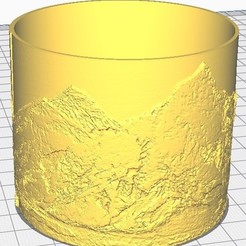 cote_everest_cura.jpg Download free STL file Mont-Blanc / Everest Lithophanie lampshade • 3D printing template, thomasf