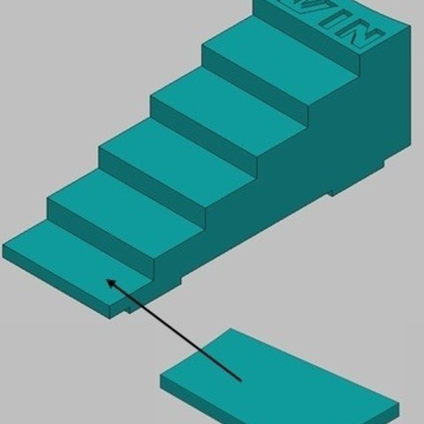 escaliers_central.jpg Download free STL file Little Horse Games - Ludo King • 3D print template, thomasf