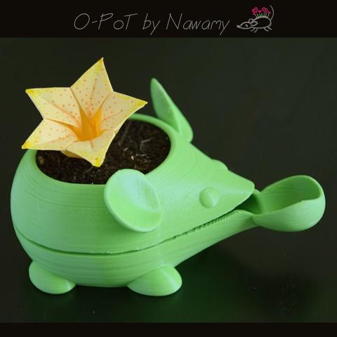 Plan 3D O-Pot - Petit pot d'arrosage automatique., Nawamy
