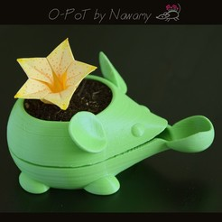 O-Pot - Tiny self- watering Pot STL file, Nawamy