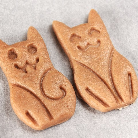 03 - 2biscotti-crudi.jpg Download free STL file The CAT-ters - Cookie Cutters • 3D printing object, Nawamy