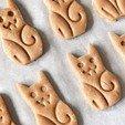04 - Tanti-biscotti-crudi.jpg Download free STL file The CAT-ters - Cookie Cutters • 3D printing object, Nawamy
