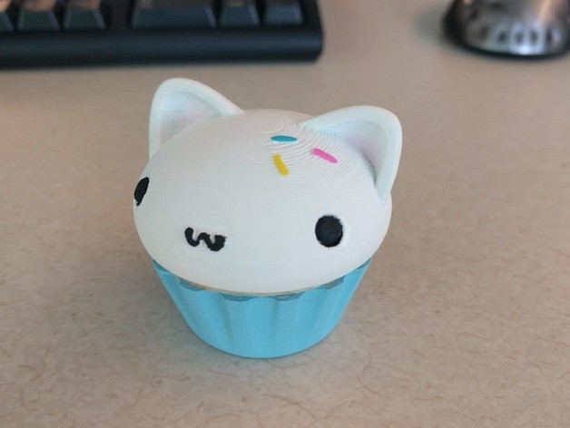 7d4b8593c1388133d393d6b4bf562984_preview_featured.jpg Download free STL file Cupcake Kitty • 3D print design, MelanieDC