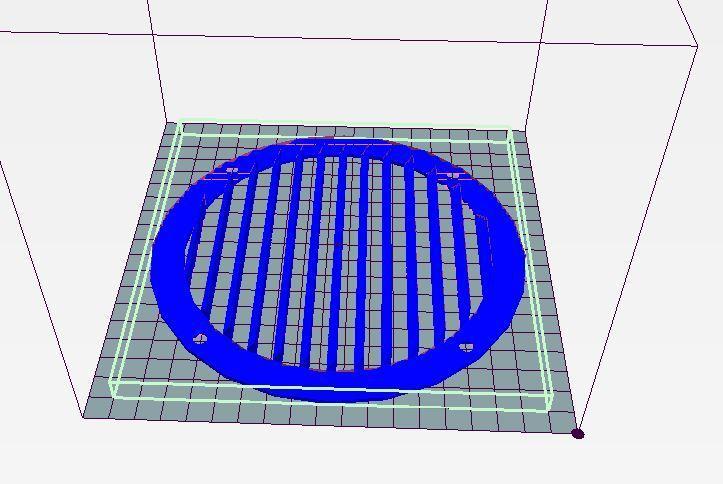 grille ronde 170.JPG Télécharger fichier STL gratuit grilles de ventilation 3 modèles (ronde, rectangle et carrée) • Design imprimable en 3D, wilfranck