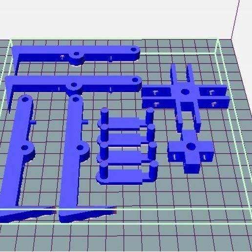kit 4 griffes.JPG Télécharger fichier STL gratuit pince griffe autoserrante pour grue camion jouet bruder • Plan imprimable en 3D, wilfranck