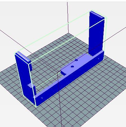 1.JPG Download free STL file Prusa I3 side screen support • 3D printable template, wilfranck