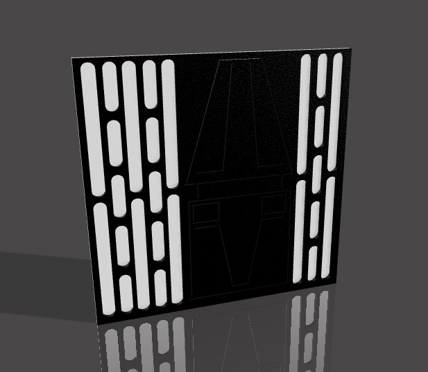 Download Stl File Death Star Wall For Star Wars Diorama 3d Printing Design Cults