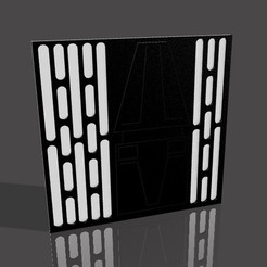 wall screen grab.jpeg Download STL file Death Star Wall For Star Wars Diorama • 3D printing design, AnthonyVanVolkinburg
