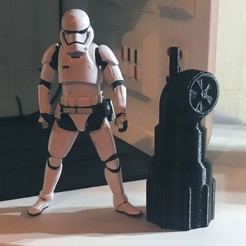 Descargar modelo 3D Star Wars Themed Vent Stack para Diorama de 3 3/4, AnthonyVanVolkinburg