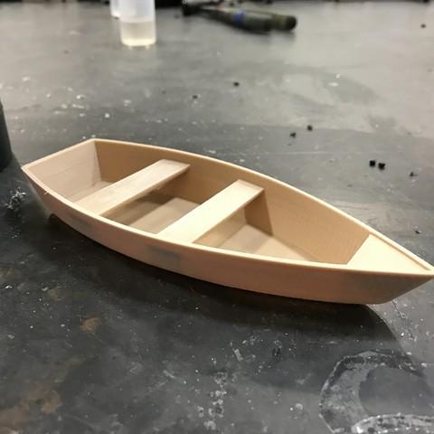 3D Printer File Wooden Paddle Boat Anthonyvanvolkinburg