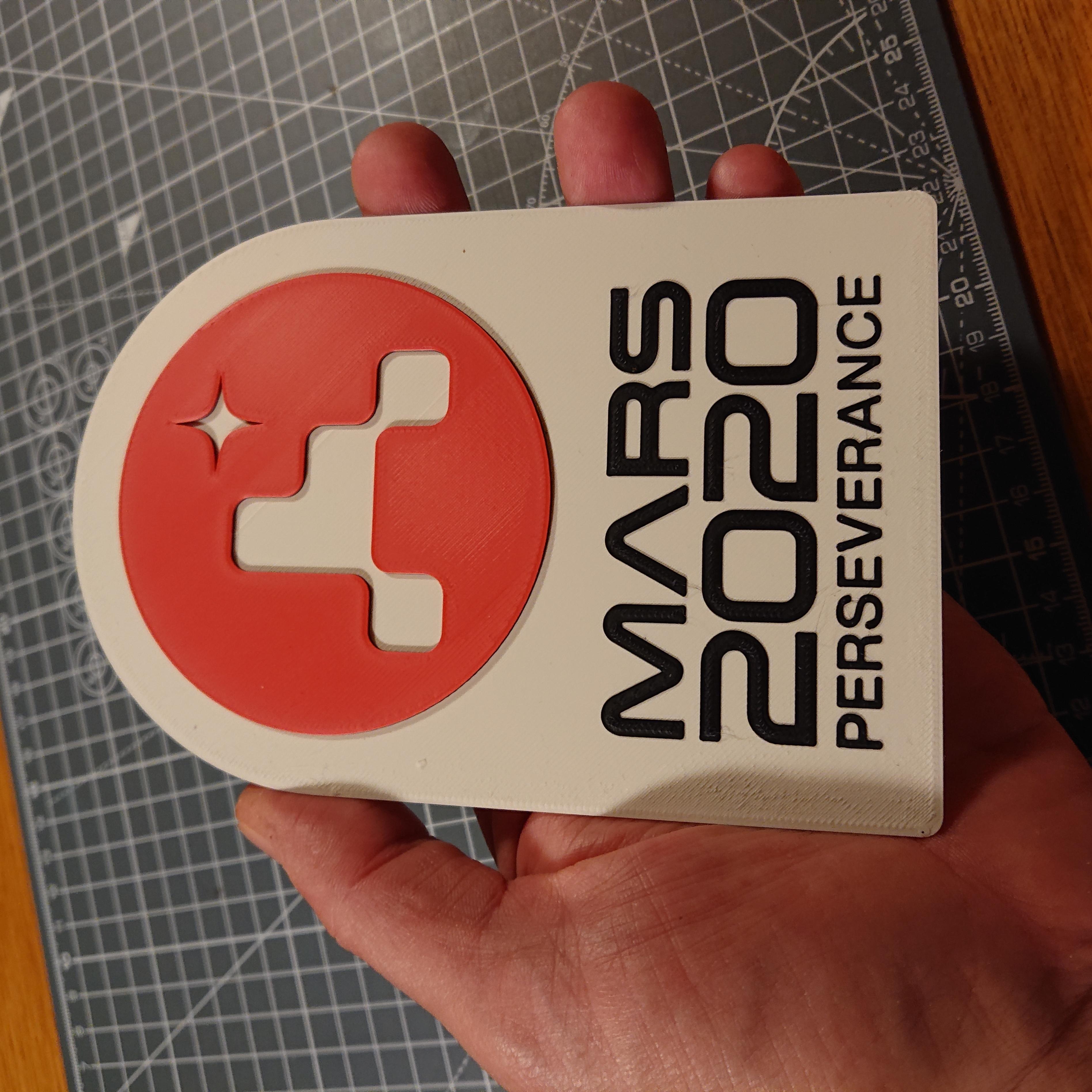DSC_1983.JPG Télécharger fichier STL gratuit Plaque de persévérance Mars 2020 • Plan pour imprimante 3D, Hazendonk