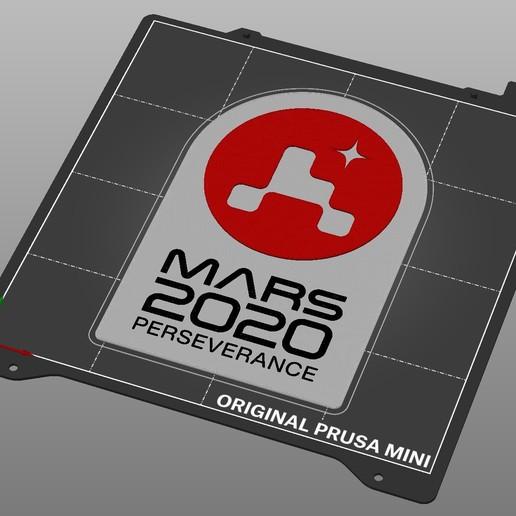 prusaslicer_layer_print.jpg Télécharger fichier STL gratuit Plaque de persévérance Mars 2020 • Plan pour imprimante 3D, Hazendonk