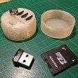 Download free STL file Micro SD Card Holder + adapter • 3D printer model, Hazendonk