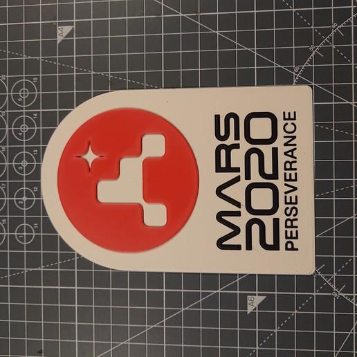 DSC_1982.JPG Télécharger fichier STL gratuit Plaque de persévérance Mars 2020 • Plan pour imprimante 3D, Hazendonk