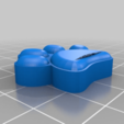 Download free STL file Dog Paw stamp • 3D printer template, Hazendonk