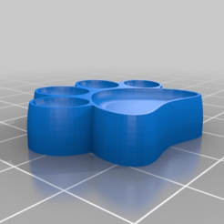 Download free STL file Dog Paw stamp • 3D printer template, Hazendonk