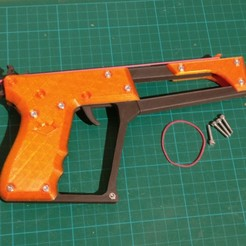 Download free STL file Stinger - Modular Semi Automatic rubber band gun • 3D print object, Hazendonk