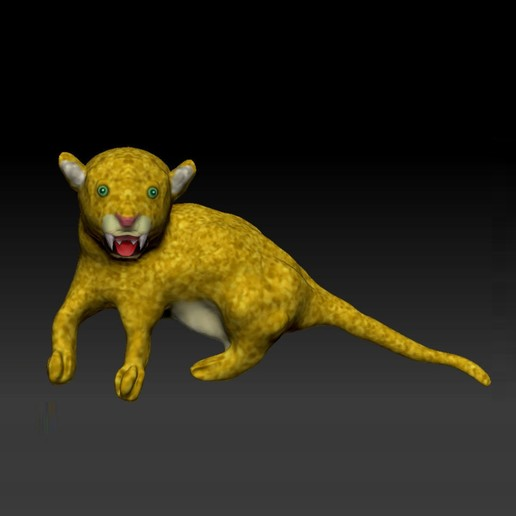 Download free STL file A LEOPARD is waiting to hunt • 3D printable template, guys347