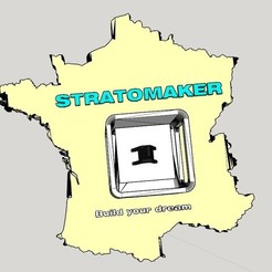 Download free 3D printer designs STRATOMAKER France map printing, guys347