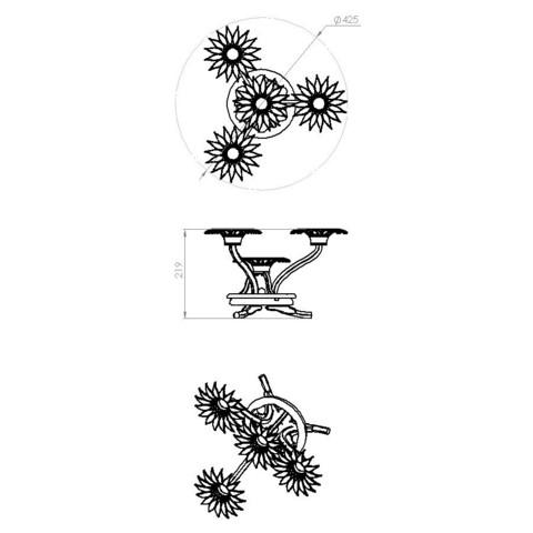 2.JPG Télécharger fichier STL gratuit Support de bougies fleurs • Design pour imprimante 3D, Fernand_Bourin