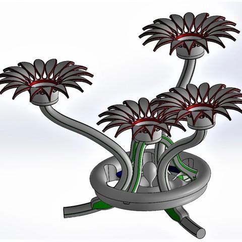 Download free 3D printing models Flower candle holder, Fernand_Bourin