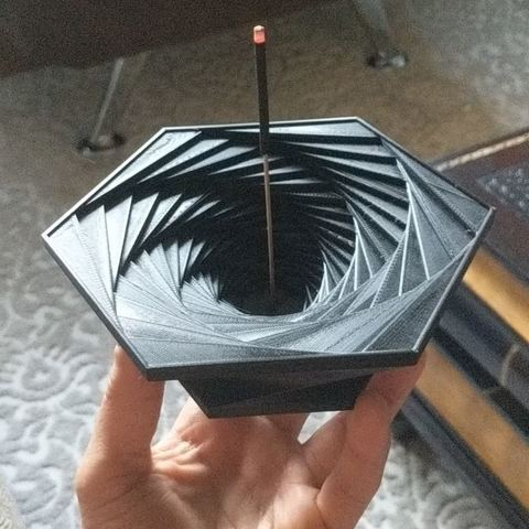 Download free 3D model Spiral Hexagon Incense Holder, spacemark