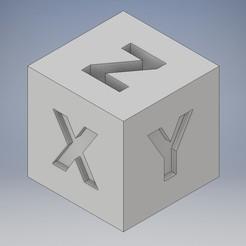 zzzzzzz.jpg Download STL file Calibration Cube XYZ Printer Calibration Cube • Design to 3D print, Jorony