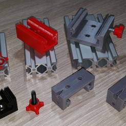 Download 3D printer designs Drilling jig Aluminium profile 20, Jorony