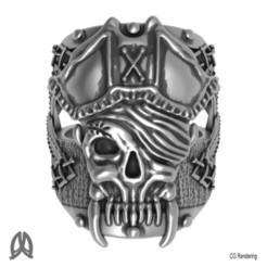 Download 3D printer files Pirate Skull Ring, Double_Alfa_Jewelry