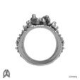 Anemone Ring Back View.jpg Download STL file Anemon Ring • 3D printable object, Double_Alfa_Jewelry