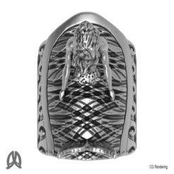 Download 3D printing designs Mermaid Thumb Ring, Double_Alfa_Jewelry