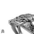 Download 3D printer files Pirate Skull Ring, Double_Alfa