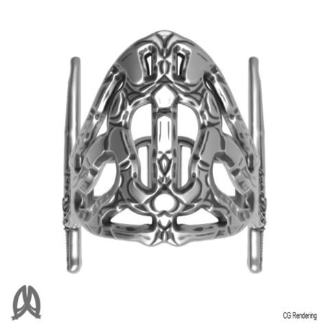 Sword Ring Top View.jpg Download free STL file Antique Sword Ring • 3D printable object, Double_Alfa_Jewelry