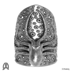 Octopus Ring Top View.jpg Download STL file Octopus Thumb Ring • 3D print design, Double_Alfa_Jewelry