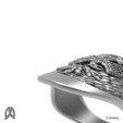 Modelos 3D para imprimir Anillo de pulgar águila de doble cabeza, Double_Alfa