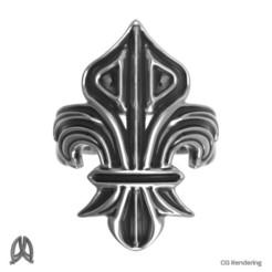 Download STL Fleur De Lis Ring, Double_Alfa_Jewelry