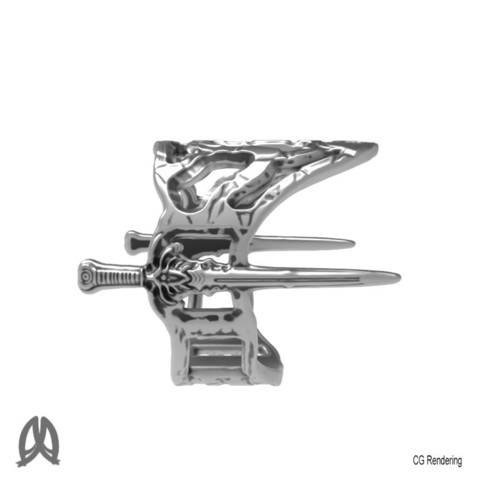Sword Ring Right View.jpg Download free STL file Antique Sword Ring • 3D printable object, Double_Alfa_Jewelry