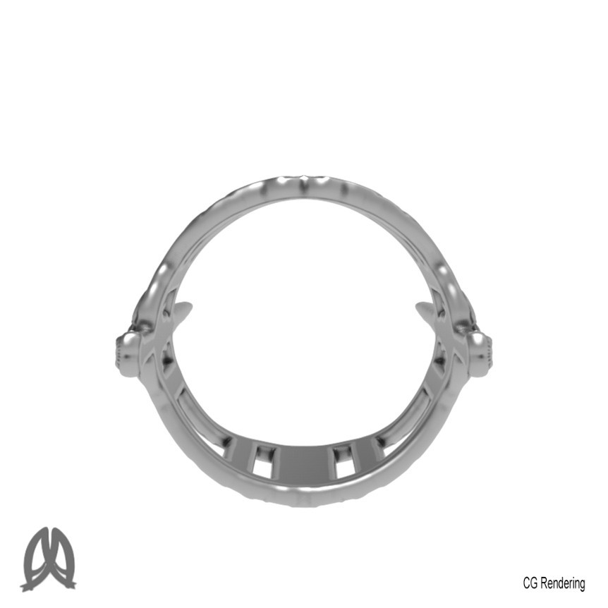 Sword Ring Back View.jpg Download free STL file Antique Sword Ring • 3D printable object, Double_Alfa_Jewelry