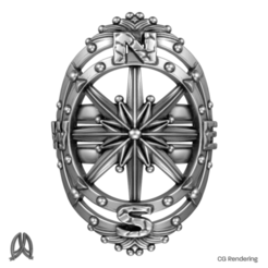 Download 3D printing templates Compass Ring, Double_Alfa_Jewelry