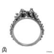 Anemone Ring Front View.jpg Download STL file Anemon Ring • 3D printable object, Double_Alfa_Jewelry