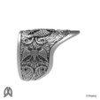 Modelo 3D Anillo de pulgar águila de doble cabeza, Double_Alfa