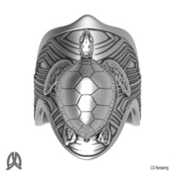 Turtle Ring Top View.jpg Download STL file Turtle Ring • 3D printing template, Double_Alfa_Jewelry