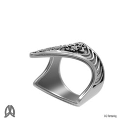 STL file Antique Turkish Thumb Ring, Double_Alfa
