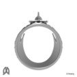 Orca Ring Back View.jpg Download STL file Orca Whale Thumb Ring • Template to 3D print, Double_Alfa_Jewelry